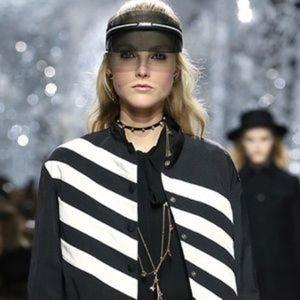 Dior Club 1 Visor Black Sunglasses New J'ADIOR